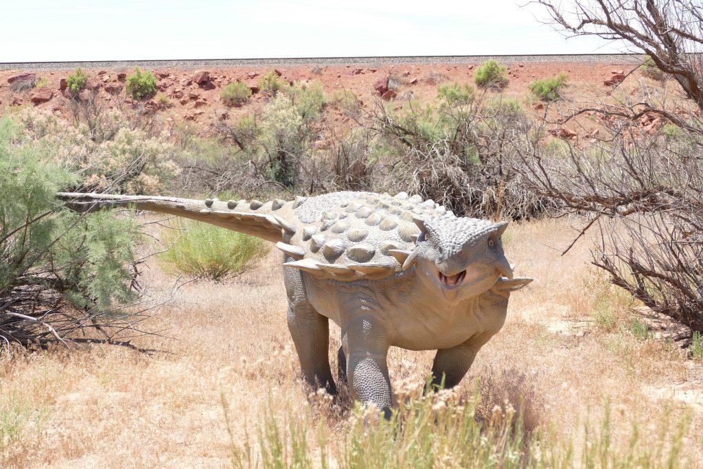 ankylosaurus durante estación seca
